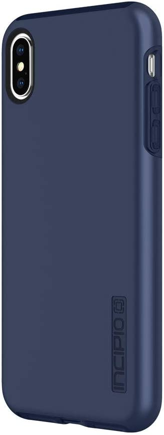 "Incipio DualPro Dual Layer Case for iPhone Xs Max (6.5"") with Hybrid Shock-Absorbing Drop Protection - Midnight Blue"