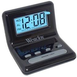 Westclox NYL47538 LCD Digital Bedside Alarm Clock Black