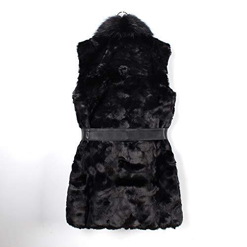 doudoune Sans Manche Les Shrug Outwear femmes Noir Fourrure Manteau Veste Femmes Manteaux Dames Fausse Gilet 1fq0O