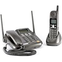 Waxess GSM DM1000G Fixed Cellular Desktop Phone with Cordless Handset - Black