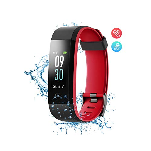 Wonbo Fitness Tracker with Heart Rate Monitor,Color Screen Activity Tracker Smartwatch with Sleep Monitor,14 Sports Mode,Calories Counter,Pedometer,IP68 Waterproof Smart Bracelet for Women Men Kids ()