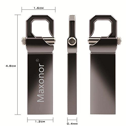 Maxonor 64GB USB 2.0 Flash Drive Waterproof Metal Pendrive High Speed Data Storage USB Disk