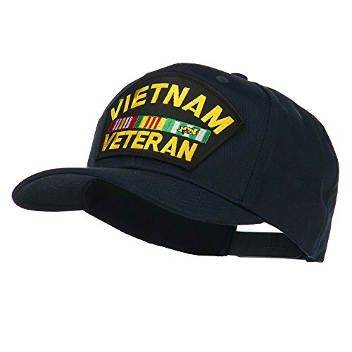 E4hats Vietnam Veteran Patched High Profile Cap - Navy OSFM