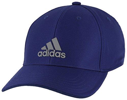 adidas Men's Decision Structured Adjustable Cap, dark blue/grey, One Size