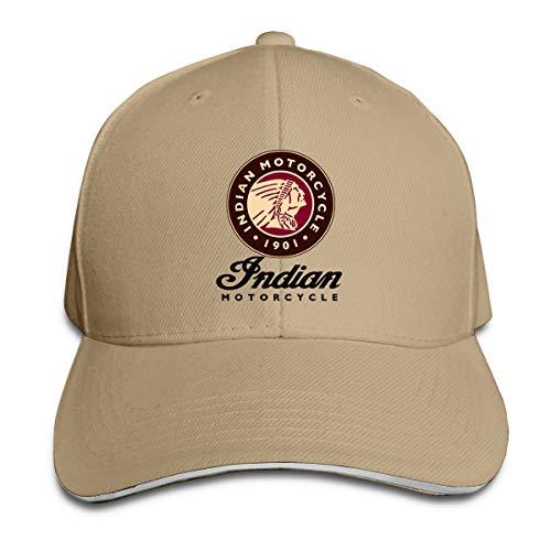 Indian Motorcycle Logo Classic Baseball Cap, Adjustable Fits Men Women Plain Low Profile Natural Hat