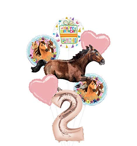 Mayflower Products Spirit Riding Free Party Supplies 2nd Birthday Galloping Horse Balloon Bouquet Decorations