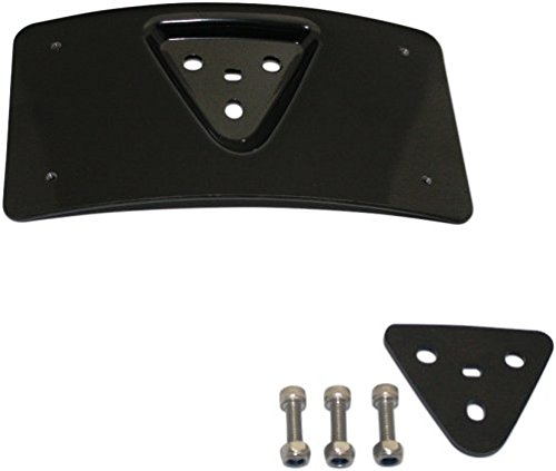 Custom Dynamics CD-PFM-B License Plate Mount (Gloss Black Radius for 1984-2016 Harley-Davidson Models)