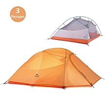 Azarxis 1-2-3 Person 4 Season Backpacking Tent, Lightweight Waterproof Double Layer Tent for Camping Hiking