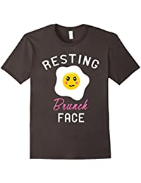 Resting Brunch Face Shirt : Grumpy Breakfast Egg Humor Joke