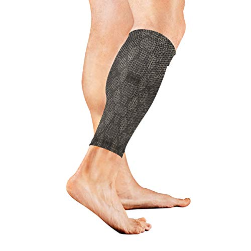 Anyangquji Snake Scale Sports Calf Compression Sleeve Strong Calf Support for Runners(1 -