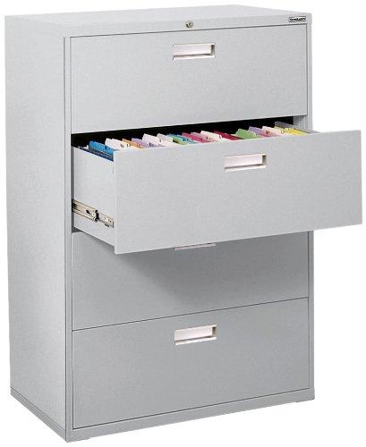 Sandusky 600 Lateral File Steel 4 Drawer Cabinet, 36
