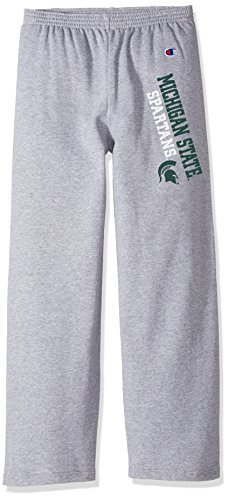 Champion NCAA Michigan State Spartans Youth Boys Eco Powerblend Pant, Medium, Heather - Michigan Pants State