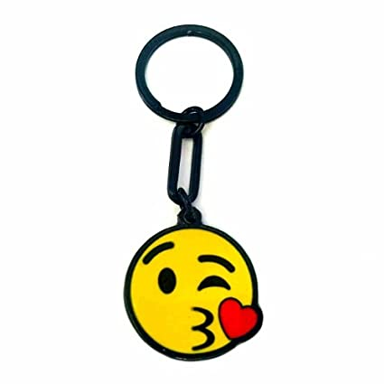 Amazon.com : Keychain Face Blowing A Kiss Emoji : Office ...