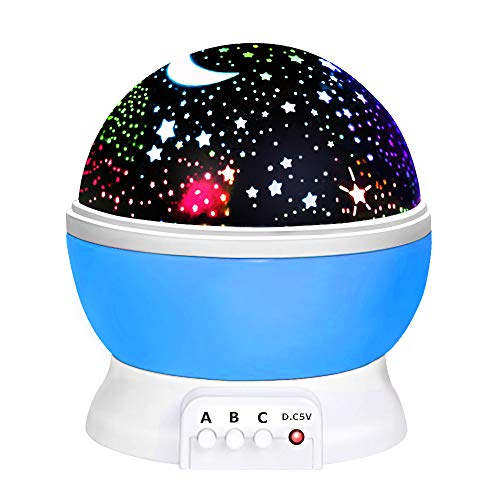 LET'S GO! Toys for 2-10 Year Old Boys, DIMY Starry Night Light 360 Degree Rotation Toys for 2-10 Year Old Girls Gifts Age 2-10 New Toys 2019 for Boys Baby Toddlers New Gifts Blue DMUSXK1]()