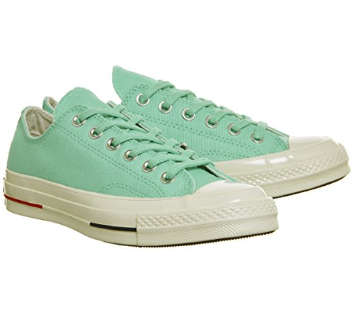 Converse Unisex Adults' All Star Prem Ox 1970's Fitness Shoes, White Light Menta Navy Gym Red