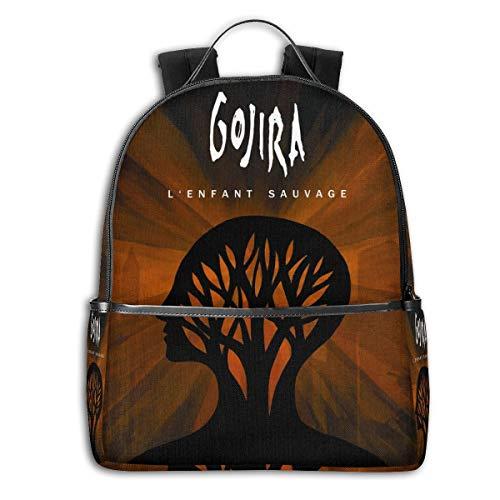 ThomaCGaona Gojira L'enfant Sauvage 14-inch Unisex Classic Lightweight Waterproof Student Backpack Shoulder Bag Men and Women College Bag Travel Bag Computer Bag