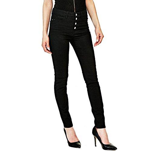 Noir Jeans Button Guess Exposed Femme 1981 qXwARaP