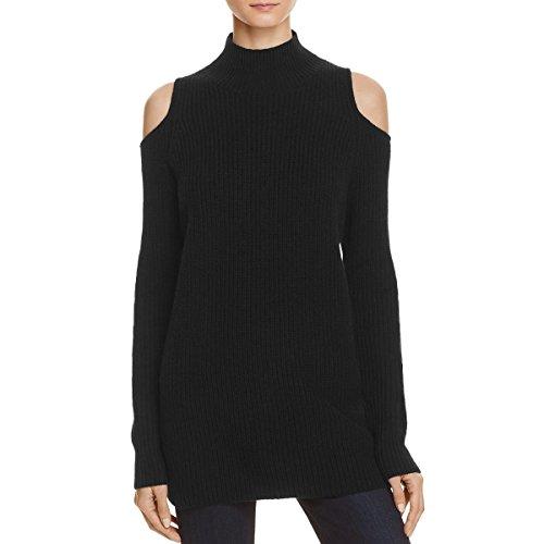 Zoe Jordan Womens Wool Cold Shoulder Pullover Sweater Black XS by Zoe Jordan