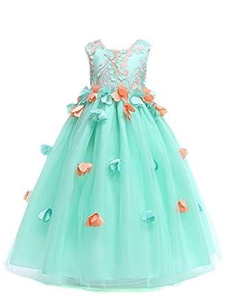 7c0044fcabc48 素敵なレースドレス 子供ドレス ピアノ発表会 プリント ドレス 女の子 二次会 花嫁 ジュニア 結婚