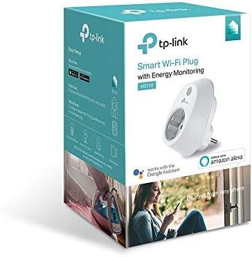 TP-Link HS110 - Enchufe inteligente inalámbrico con monitorización de energía, controle sus dispositivos desde cualquier lugar, funciona con Amazon ...