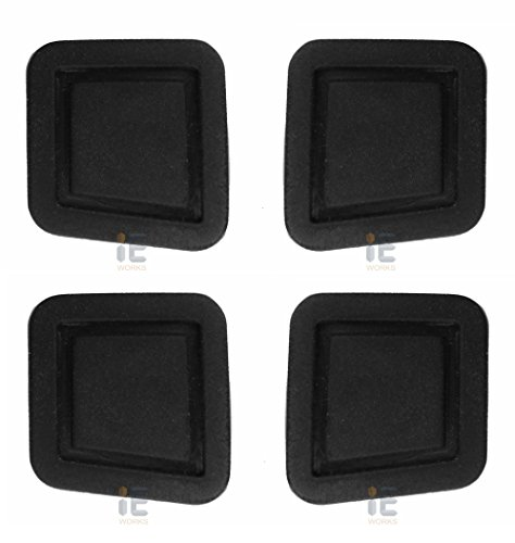 (4x Repair Kit) Door Handle Button Cover for Mercedes-Benz (Left & Right Side) Driver & Passenger Lock Keyless-Go Entry Outer Rubber Square W211 W220 C209 C215 W219 R230 W251 X164 - Benz Sl65 Mercedes Amg