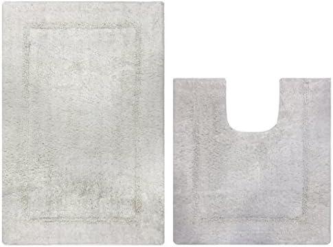 Sweet Needle - Juego de alfombras de baño, 100% algodón, 2 piezas ...