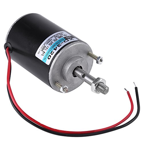 Akozon Permanent Magnet DC Motor 12/24V 30W CW/CCW for DIY Generator High Speed Low Noise for Cotton Candy Machine, Small Cutting Bench,Grinding Machine,Medical Equipment etc(12v 3000rpm)