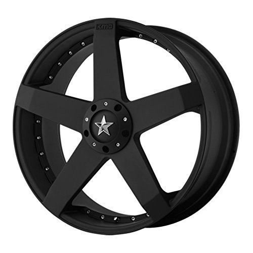 KMC Wheels KM775 Rockstar Car Matte Black Wheel (17×7.5″/5×115, 120mm, +21mm offset)