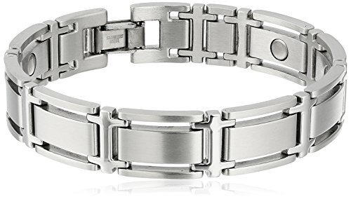 Bracelet Sports Sabona - Sabona Executive Symmetry Silver Magnetic Bracelet - Large