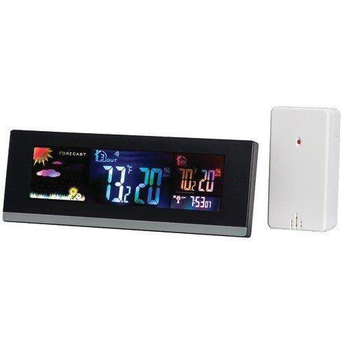 TAYLOR 1741 Desktop Digital Color Weather Station with USB Charger -