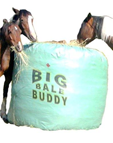 Photo Big Bale Buddy Size Large Feed Hay Horses Equine Green Round Bale Feeder