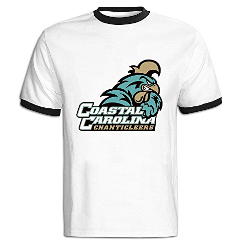 C-DIY Men's Color Block T-shirt Latest Coastal Carolina Chanticleers M Black