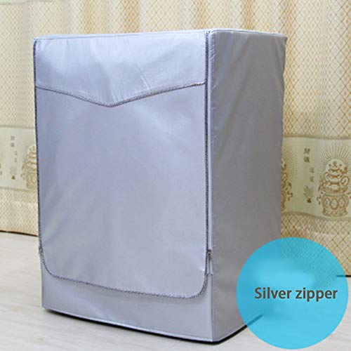 Waterproof Washing Machine Cover, Silver Fabric Upgrade Washer Cover Silver...