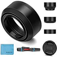 49mm Lens Hood Universal Collapsible Lens Sun Shade Hood with Centre Pinch Lens Cap for Canon Nikon Sony Pentax Olympus…