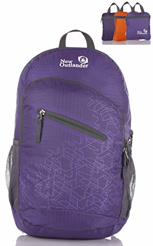 Outlander Packable Handy Lightweight Travel Hiking Backpack Daypack-Purple-L
