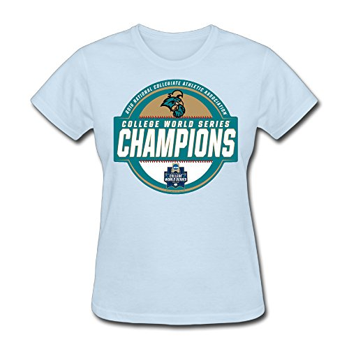 Guiwan Women's Coastal Carolina Chanticleers Basrball World Series Champions - Americans Shirt Ugly T