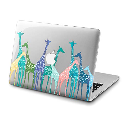 (Lex Altern MacBook Case Pro 15 Air 13 11 12 inch Mac Cute Colorful Giraffes 2018 Abstract Animal Retina Blue Tropical Cover Hard Shell 2017 Clear 2016 Plastic Protective Girls Women Print Kids Gift)