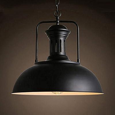 Vintage Metal Industrial Chandelier, MKLOT Ecopower Industrial Retro Pendant Light Ceiling Lighting Chandelier 1-Light