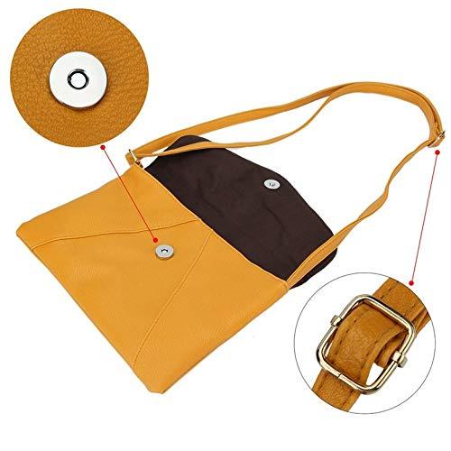 Tout en cuir Design Diagonal à et Harlls à sac Jaune All bandoulière match bandoulière Durable pour Single match Petit Sacs Match portable femme Tout en 4z4vxfn
