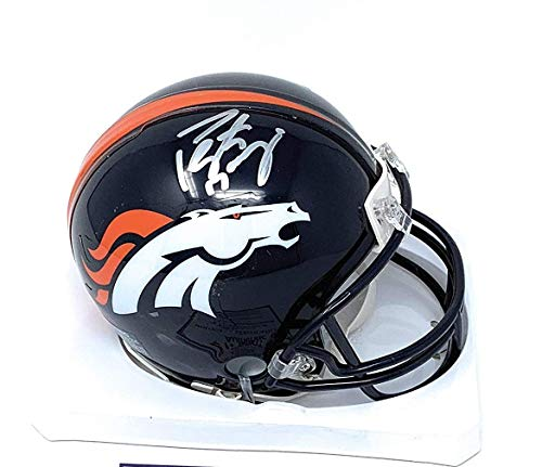 Peyton Manning Denver Broncos Signed Autograph Mini Helmet Steiner Sports Certified ()