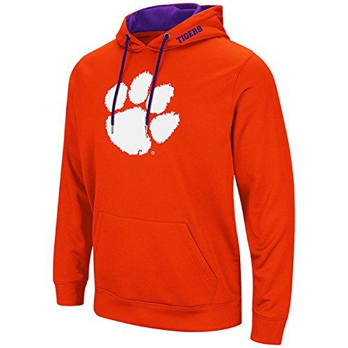 Clemson Tigers Football Jersey - Colosseum Men's NCAA-Elite Zone Pullover Hoodie Sweatshirt-Clemson Tigers-Orange-Large