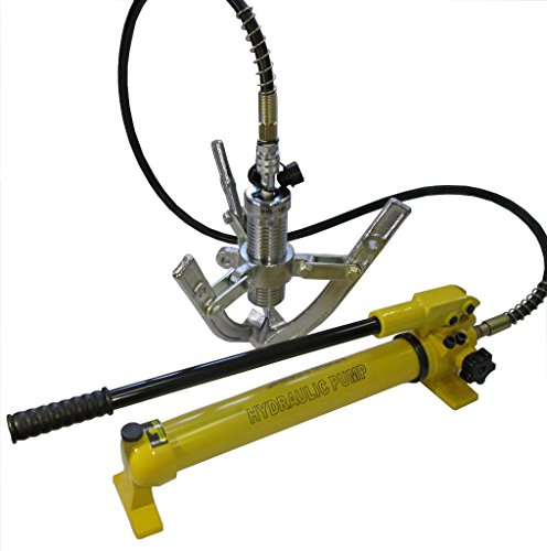 Hydraulic Gear Puller w. Separable Hand Pump Bearing Wheel (10 tons) L-10F-MP ()