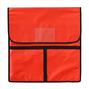 New Star 50110 Insulated Pizza Delivery Bag, 22 by 22 by 5-Inch, Red