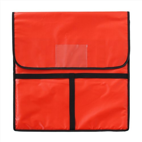 New Star 50110 Insulated Pizza Delivery Bag, 22 by 22 by 5-Inch, Red (Pizza Delivery Box)