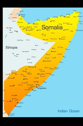 Map of Somalia Journal: 150 page lined notebook/diary