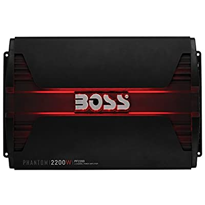 BOSS Audio Systems PF2200 Phantom 2200 Watt, 4 Channel, 2 4 Ohm Stable Class AB, Full Range, Bridgeable, Mosfet Car Amplifier with Remote Subwoofer Control: Car Electronics