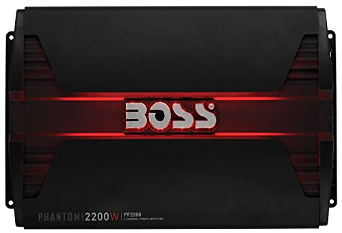 Boss Audio Systems PF2200 Phantom 2200 Watt, 4 Channel, 2 4 Ohm Stable Class AB, Full Range, Bridgeable, Mosfet Car Amplifier with Remote Subwoofer Control