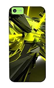 Iphone 5c Hard Back With Bumper Silicone Gel Tpu Case Cover For Lover's Gift Yellow Graffitti