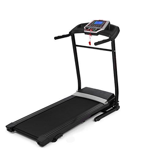 Jaketen Fitness Treadmill 2.25HP Folding Electric Walking Treadmills Running Machine (black)