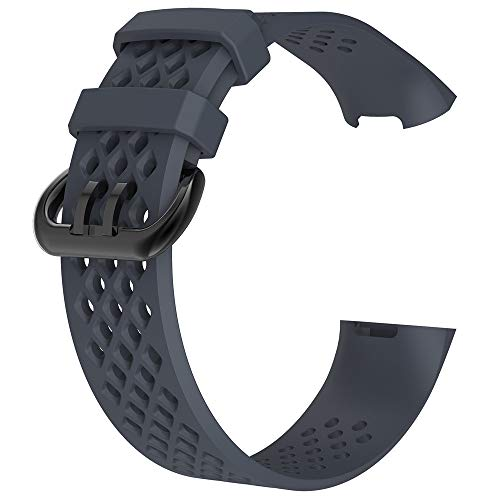 New Sports Watch Bands, Geetobby Fashion Soft Rubber Replacement Ventilate Sport Soft Wristband Wrist Strap Watch Straps for Men and Women Smartwatches
